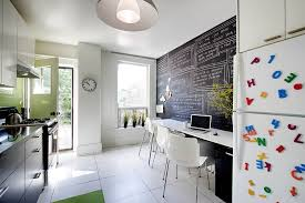 chalkboard cork board combo kitchen contemporary with accent wall alphabet magnets beautiful home office chalkboard