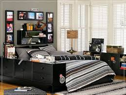 teens room bedroom black wooden bed with grey striped bedding set connected by some small picture bedroom ideas teenage guys small