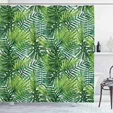 Ambesonne Leaf Shower Curtain, Tropical Exotic ... - Amazon.com