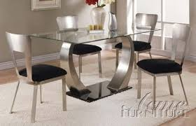 metal dining room chairs chrome: amazoncom pc dining table and chairs with metal base in chrome finish tables
