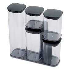 Купить <b>Набор из 5-ти</b> емкостей для хранения Podium серый ...