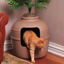 covered hidden cat litter box with decorative planter if youre looking for a way bookcase climber litter box