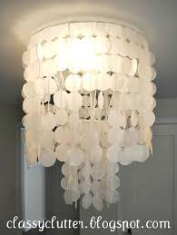 diy capiz shell chandelier for under 10 capiz shell lighting fixtures