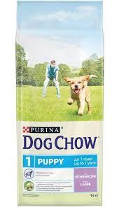 <b>Сухой корм</b> для щенков до года, <b>Purina Dog</b> Chow, с ягненком ...
