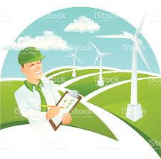 green collar worker wind turbine stock vector art istock green collar worker wind turbine royalty stock vector art