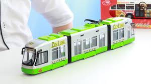 Открываем <b>игрушки</b> машинки. <b>Городской</b> трамвай с гармошкой ...