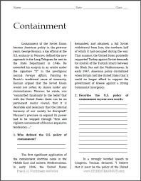 history teachers  high schools and the o    jays on pinterestcontainment   cold war reading   questions   free to print  pdf file  for