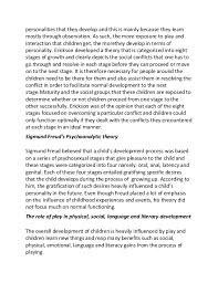 essay on cognitive development