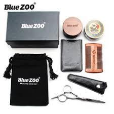 <b>Blue Zoo</b> Men's Care Round Brush Set <b>Black Gold Sandalwood</b> ...