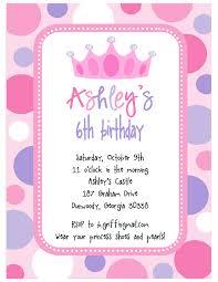 spectacular princess theme birthday invitation cards birthday affordable princess party invitation wording ideas