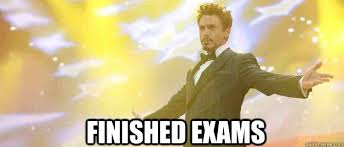 After Finals - Tony Stark - quickmeme via Relatably.com
