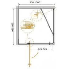 Купить <b>Душевой уголок</b> Cezares Slider 100/<b>100х90</b> (SLIDER-AH-1 ...