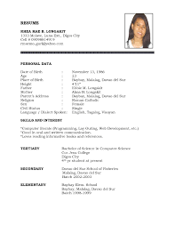format of a simple resumes template format of a simple resumes