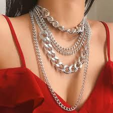 Buy Women's <b>Fashion Multi</b>-<b>Layer Necklace</b> Personality <b>Punk Style</b> ...