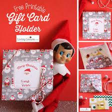 printable diy christmas gift card holder