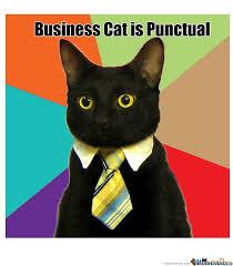 Business Cat Is Punctual by kelso - Meme Center via Relatably.com