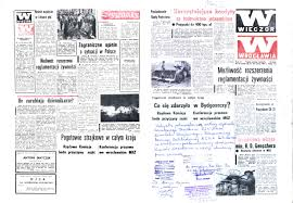 censorship wieczatildesup3r wrocaring130awia daily newspaper of wrocaring130aw people s republic of 20 21 1981 censor intervention on first and last pages under the
