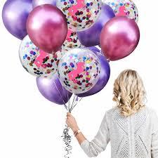 <b>ZLJQ Unicorn</b> Metallic 12 Inch Confetti Balloons Birthday Party ...