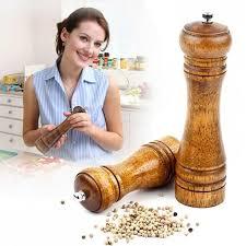 <b>1pcs Pepper</b> Spice Herb Grinder Wooden Cruet <b>Mill</b> Condiment ...