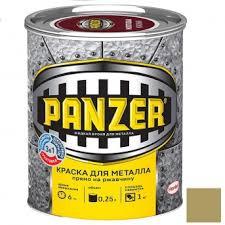 <b>Краска для металла Panzer</b> гладкая золотистая 0,25 л в Томске ...