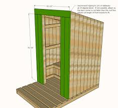 Ana White   Outhouse Plan for Cabin   DIY ProjectsAttach remaining framing for supporting the front siding