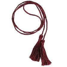 GC - 2/<b>40</b> (10 <b>pcs</b>) tassels on the string PE - <b>32</b> (Clear claret) | ALL ...