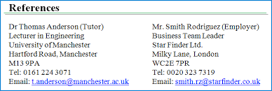 preview of a good example of how to write references on a cv reference examples for resume