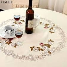 WINLIFE Brand <b>Lace Table Cloth</b> Set <b>European Round Table Cloth</b> ...