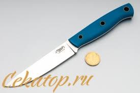 <b>Нож</b> походный кухонный <b>Slender S</b> (D2, синий G-0) Южный Крест ...