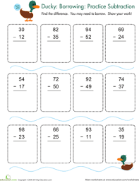 Subtraction with Regrouping Practice | Worksheet | Education.comSecond Grade Subtraction Worksheets: Subtraction with Regrouping Practice