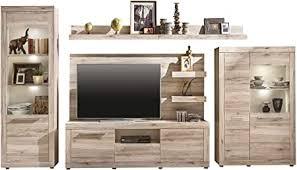 Furnline Living Room Furniture <b>Set TV Wall Unit</b> Oak Sand Imitation ...