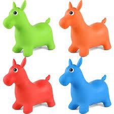 <b>1pcs Kids</b> Ride On Animal Bouncy Horse Hopper <b>Toys</b> Inflatable ...