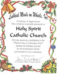 meals on wheels certificate the r catholic diocese of lubbock meals on wheels certificate