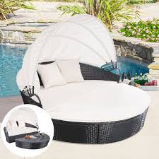 image black wicker outdoor furniture round wicker outdoor furniture furniture round retractable canopy daybed black wicker black outdoor balcony furniture
