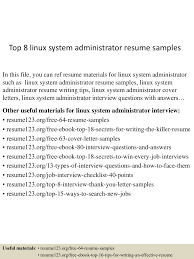 system administrator resumes cipanewsletter top8linuxsystemadministratorresumesamples 150516013925 lva1 app6891 thumbnail 4 jpg cb u003d1431740409 from slideshare net