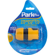 """Соединитель <b>Park 3/4</b>""""-5/8""""-1/2"""", с аквастопом, DY8011L, желтый ..."""