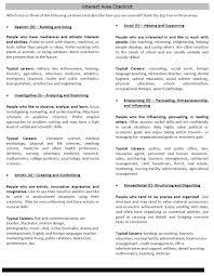 your interest area career med interest area checklist