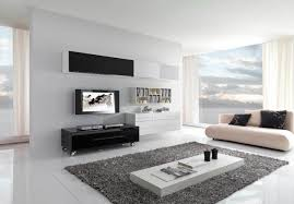 ideas contemporary living room: living roomcontemporary living room decorating idea with wooden floor and tv wall mounted idea