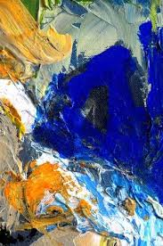 Nice <b>Large</b> Scale <b>Original Abstract Oil</b> Painting On Glass Stock ...