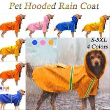 <b>Pet Dog Puppy Cat Hoodie Hooded</b> Rain Coat Rainwear Waterproof ...