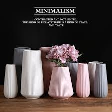 <b>Nordic</b> modern minimalist <b>ceramic vase</b> white powder <b>gray</b> ...