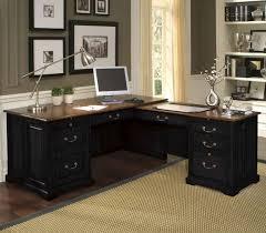 l shaped black computer desk shaped wood desks home