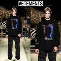 <b>VETEMENTS</b> 2019-20AW <b>Long Sleeves</b> Cotton <b>Hoodies</b> by Jsoulir ...