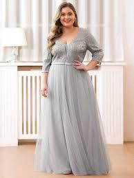 Evening <b>Dresses</b> Party Women <b>Fashion V Neck</b> Half Sleeves Ever ...