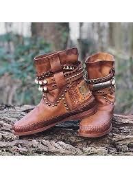 Fashion studded mid-heel Martin boots 25106556 BERRYLOOK ...