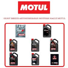 Обзор автомобильных <b>моторных масел</b> от <b>Motul</b>