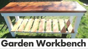 DIY <b>Outdoor Garden</b> Work Bench - YouTube