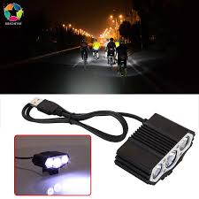 <b>12000LM</b> Cree 3LED 3 Mode <b>USB</b> Bicycle <b>Lamp</b> Bike <b>Light</b> ...