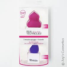 "1 REAL TECHNIQUES 2 <b>Miracle Sponges</b> + 2 <b>Stands</b> ""RT-1490 ..."