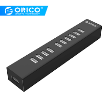 <b>ORICO</b> High Speed 10 Ports <b>USB</b> 2.0 <b>HUB Multi</b> Splitter Power ...